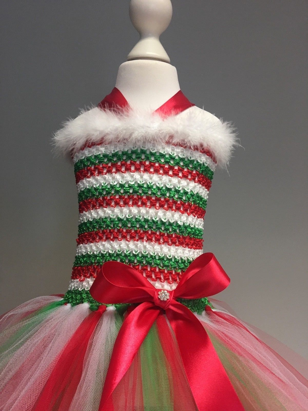 3080d0cc358e Elf tutu tulle dress Christmas outfit girls Christmas dress up red green  white